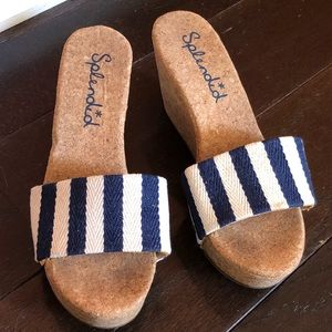 Splendid slides wedge sandals